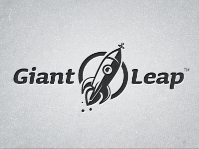 giantleap logo bw small21 40 Awesome Rocket Based Logo Designs