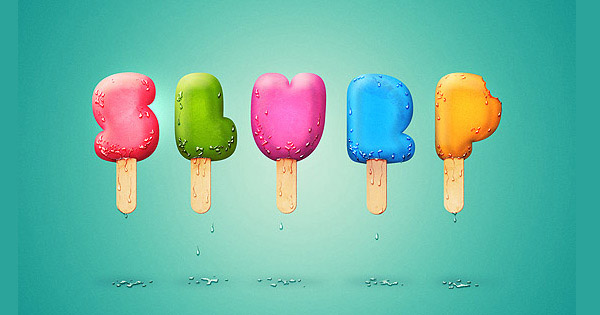 ice cream type treatment1 35 Fresh Text Effect Photoshop Tutorials