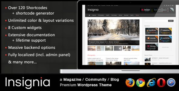insignia image   large preview1 55 Brilliant Blog and Magazine WordPress Themes