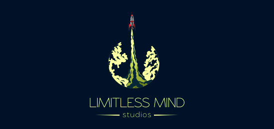 limitless mind logo designs1 40 Awesome Rocket Based Logo Designs