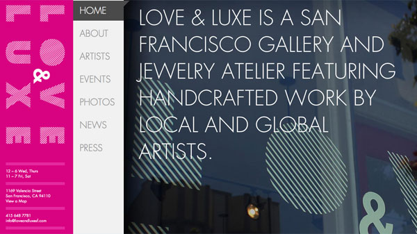 love luxe1 40 Fresh Web Designs For Your Inspiration