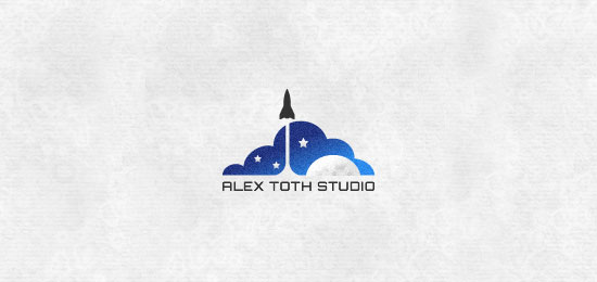 personal mark experiment logo designs1 40 Awesome Rocket Based Logo Designs