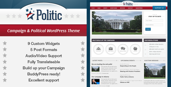 Politic: Campaign, Political WP & BuddyPress Theme