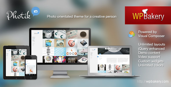 Photik – Responsive Portfolio & Blog WordPress Theme