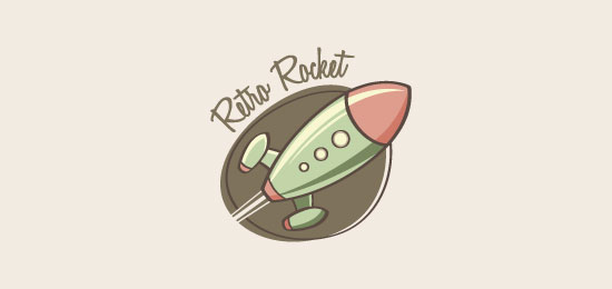 retro rocket logo designs1 40 Awesome Rocket Based Logo Designs