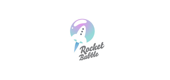 rocket bubble logo designs1 40 Awesome Rocket Based Logo Designs