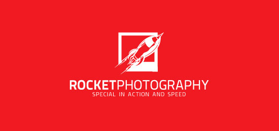rocket photography logo designs1 40 Awesome Rocket Based Logo Designs