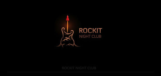 rockit nightclub logo designs1 40 Awesome Rocket Based Logo Designs