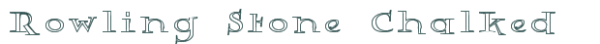 Rowling Stone Chalked font