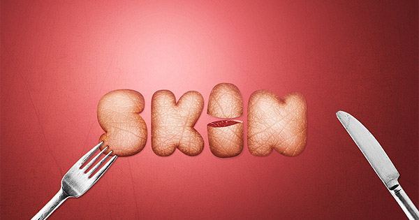 Design a Skin Textured Typography Scene