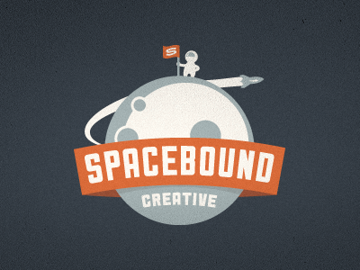 spacebound creative logo  final1 40 Awesome Rocket Based Logo Designs
