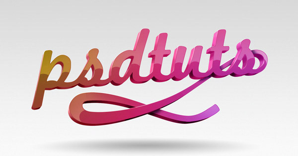 super glossy 3d typography effect1 35 Fresh Text Effect Photoshop Tutorials