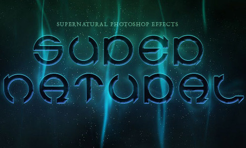supernatural1 35 Fresh Text Effect Photoshop Tutorials