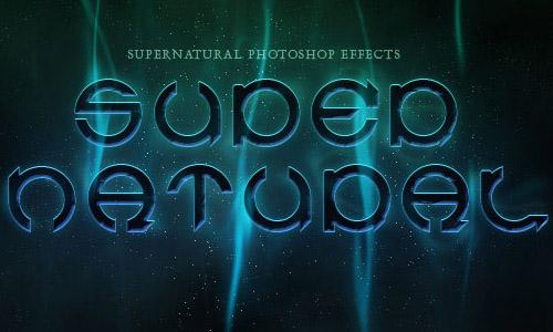 A Slick Supernatural Text Effect