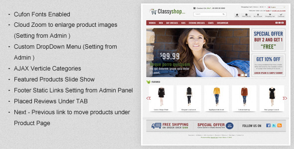 themepreview magento   large preview1 40 Elite e Commerce Magento Templates