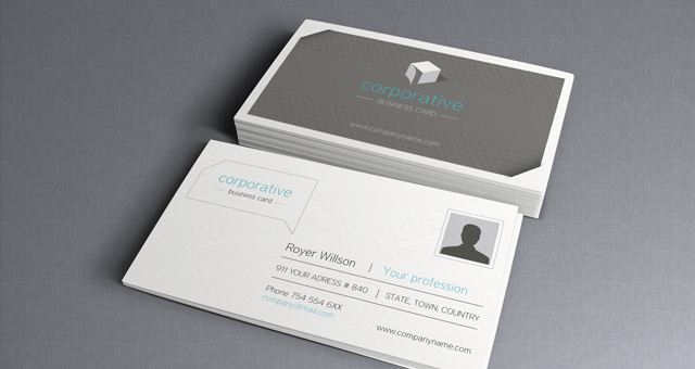 001 corporate business card template vol 21 20 Free Business Card Templates