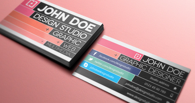 001 graphic designer business card template vol 21 20 Free Business Card Templates