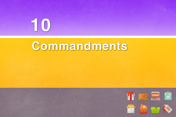 10 commandments The 10 Commandments of Shopping Online