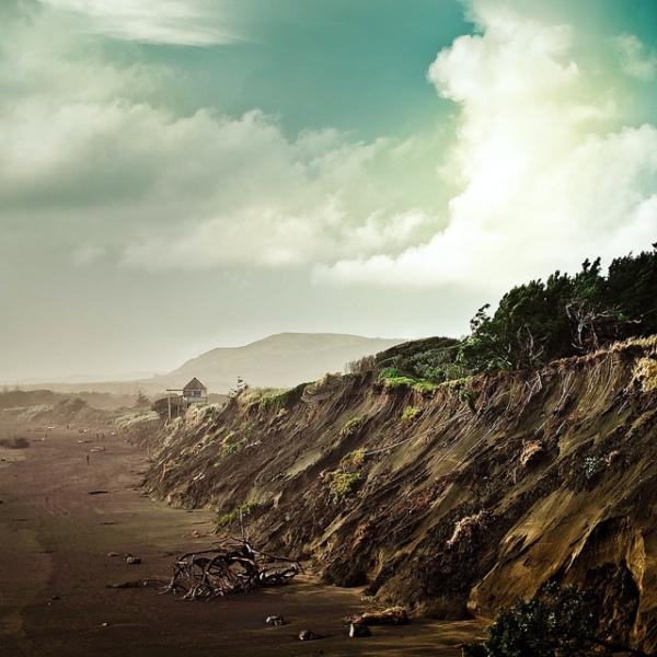 New Zealand landscape beach scene