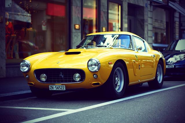 yellow SWB Berlinetta