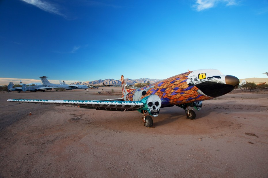 654 The Boneyard Project: Retired Airplanes turned into Art