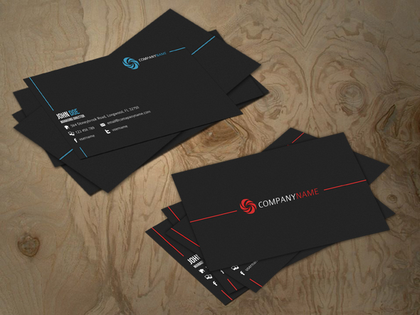 a card1 20 Free Business Card Templates