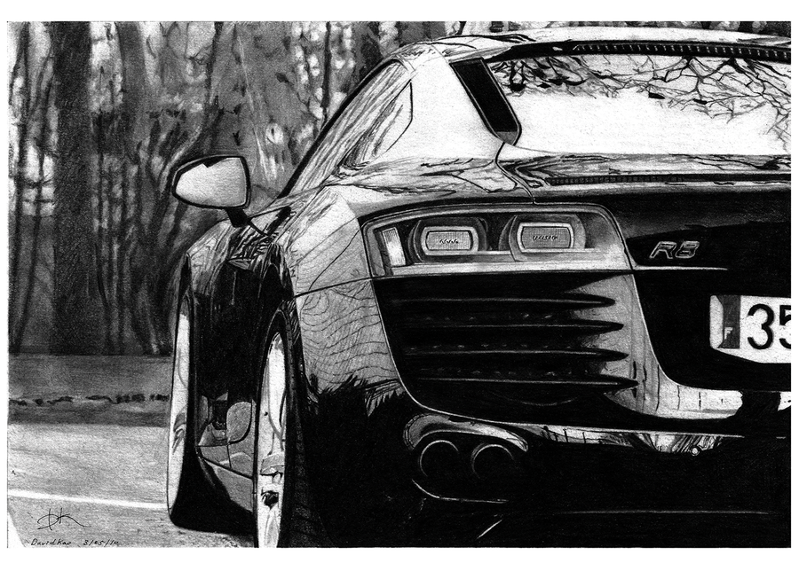 audi r8 by david100721 35 Mindblowing Realistic Pencil Drawings
