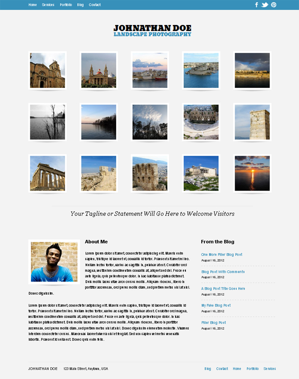 auto focus Free WordPress Themes Released in Summer 2012