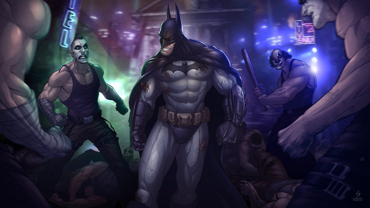 batman  arkham city by patrickbrown d4anytx1 25 Outstanding Digital Illustrations by Patrick Brown