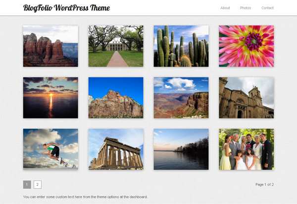 blogfolio Free WordPress Themes Released in Summer 2012