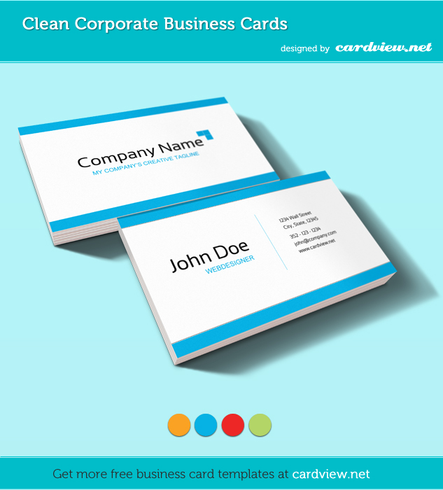 business card template presentation pack 71 20 Free Business Card Templates