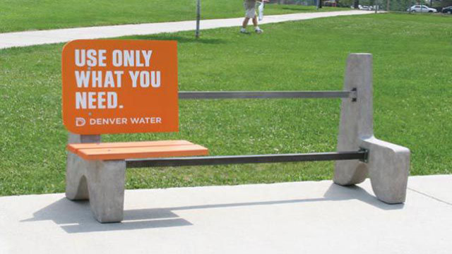 denverwater1 20 Creative Examples of Bench Advertising