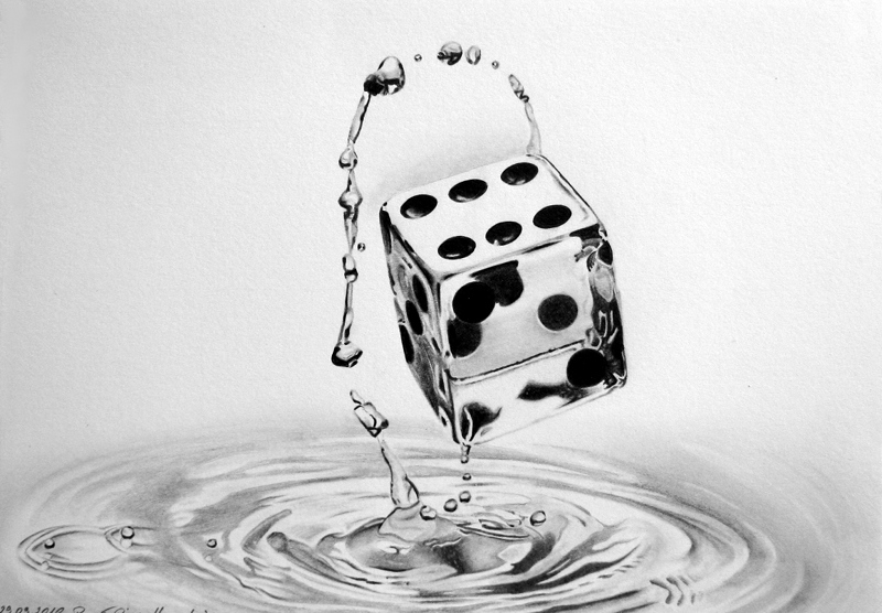 dice water  updated prev   by pepei d2zqe3k1 35 Mindblowing Realistic Pencil Drawings
