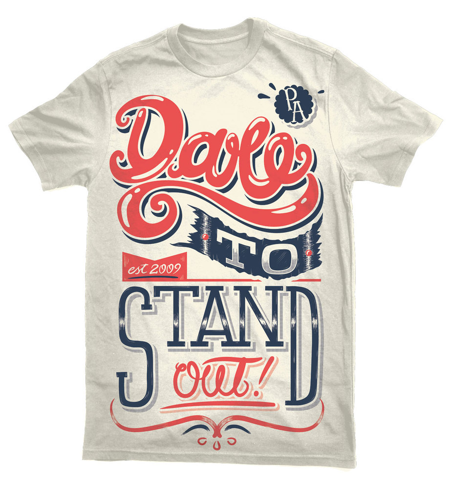 dtsomock1 35 Beautiful Typographic T Shirt Designs