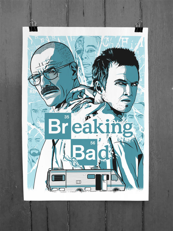 Breaking Bad Blue Sky Fan Art Poster