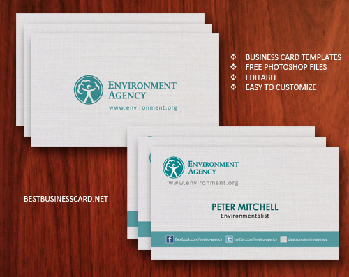 eco business card 61 20 Free Business Card Templates