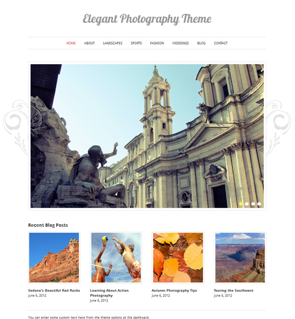 elegant photography Free WordPress Themes Released in Summer 2012