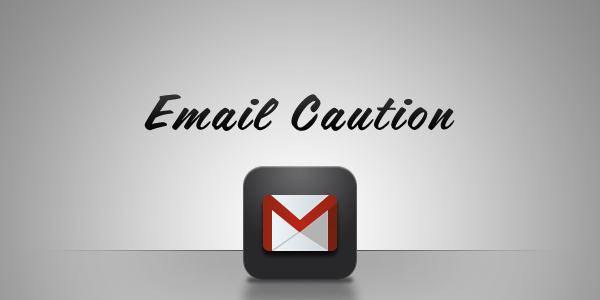 email-caution