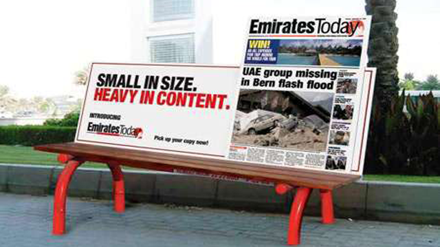 emirates1 20 Creative Examples of Bench Advertising