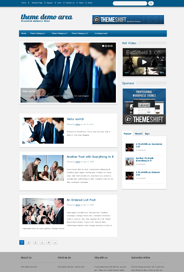 financeworld Free WordPress Themes Released in Summer 2012