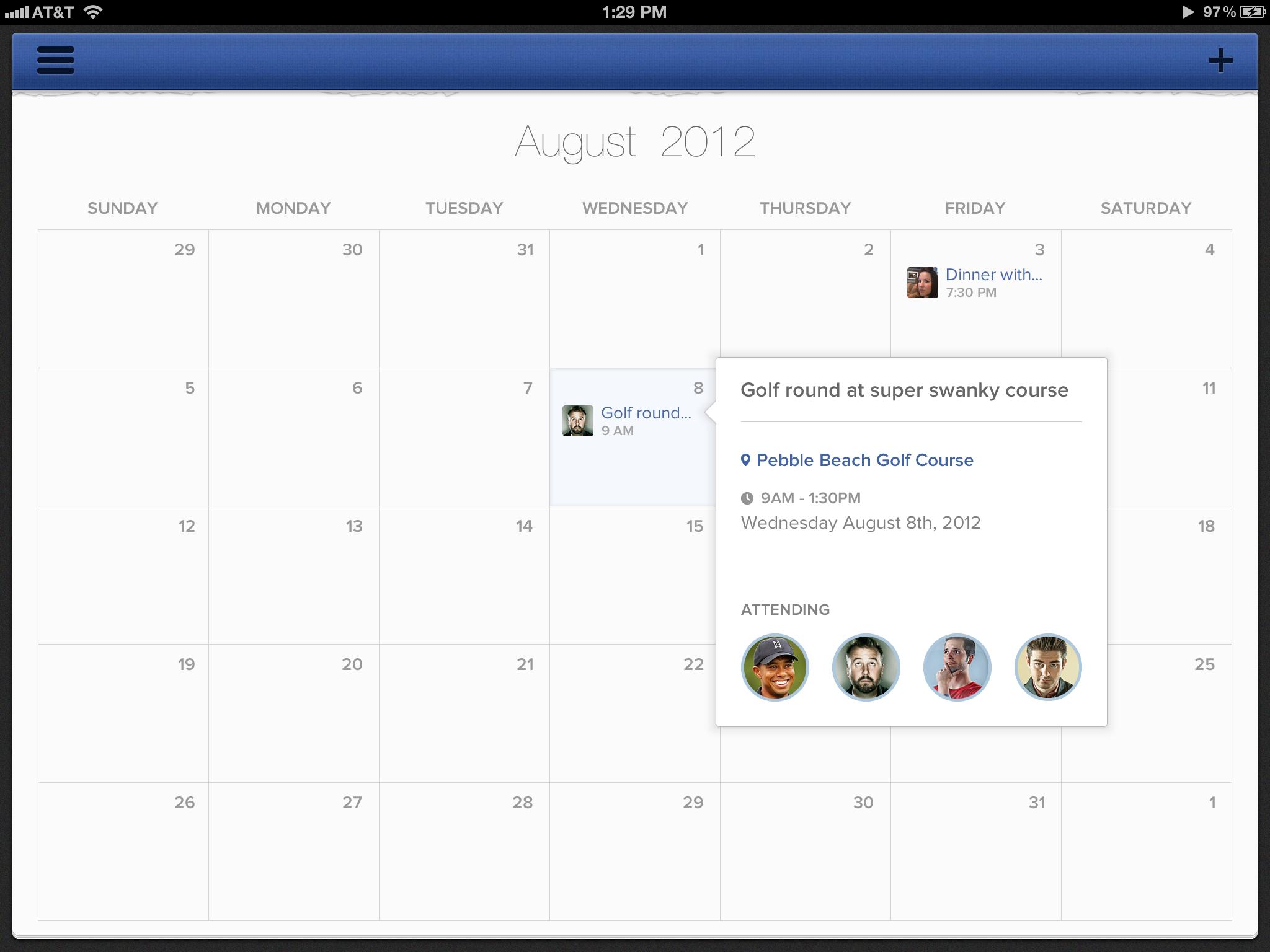 iPad Calendar app