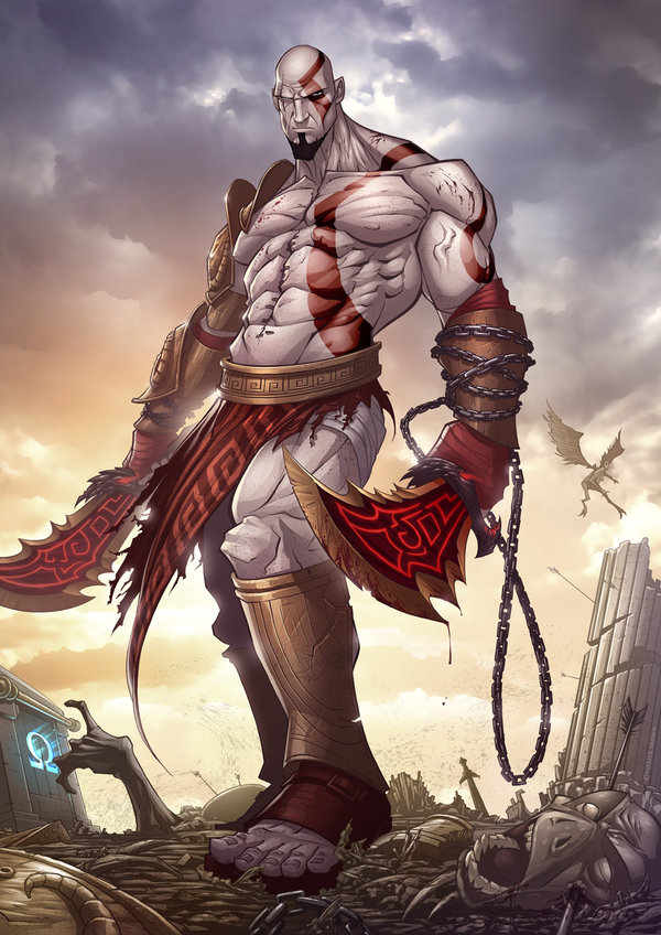 god of war 3 by patrickbrown1 25 Outstanding Digital Illustrations by Patrick Brown