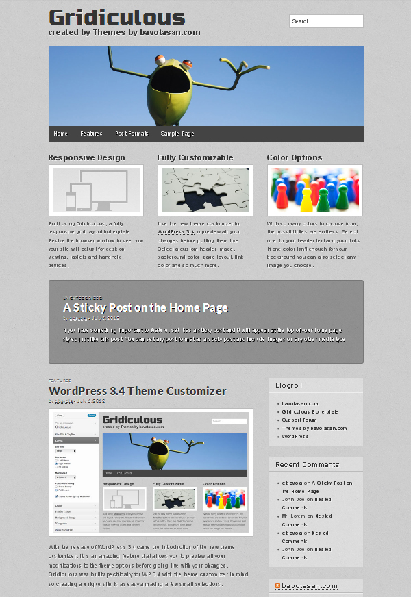gridiculous Free WordPress Themes Released in Summer 2012