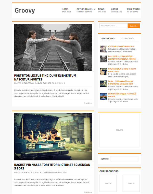 groovy Free WordPress Themes Released in Summer 2012