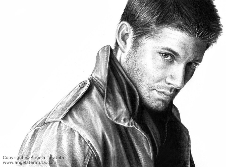 jensen ackles by angela t1 35 Mindblowing Realistic Pencil Drawings