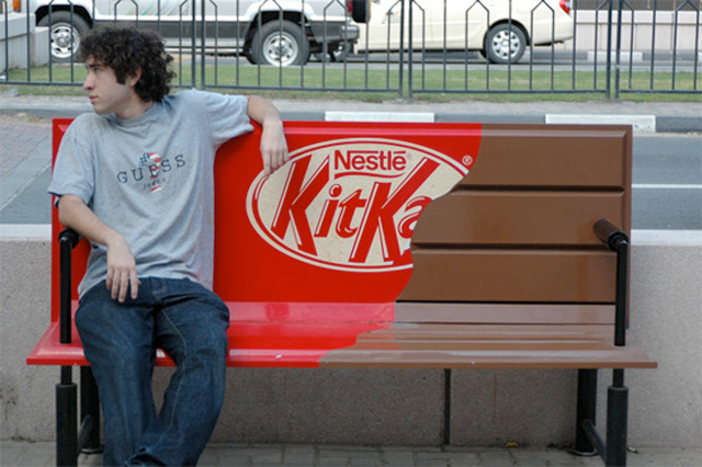 kitkatbench11 20 Creative Examples of Bench Advertising