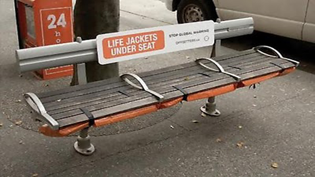 lifejacket1 20 Creative Examples of Bench Advertising