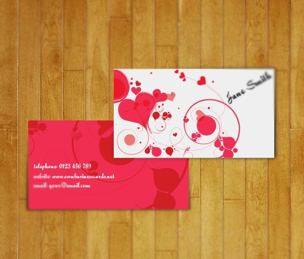 lovely business card for women1 20 Free Business Card Templates