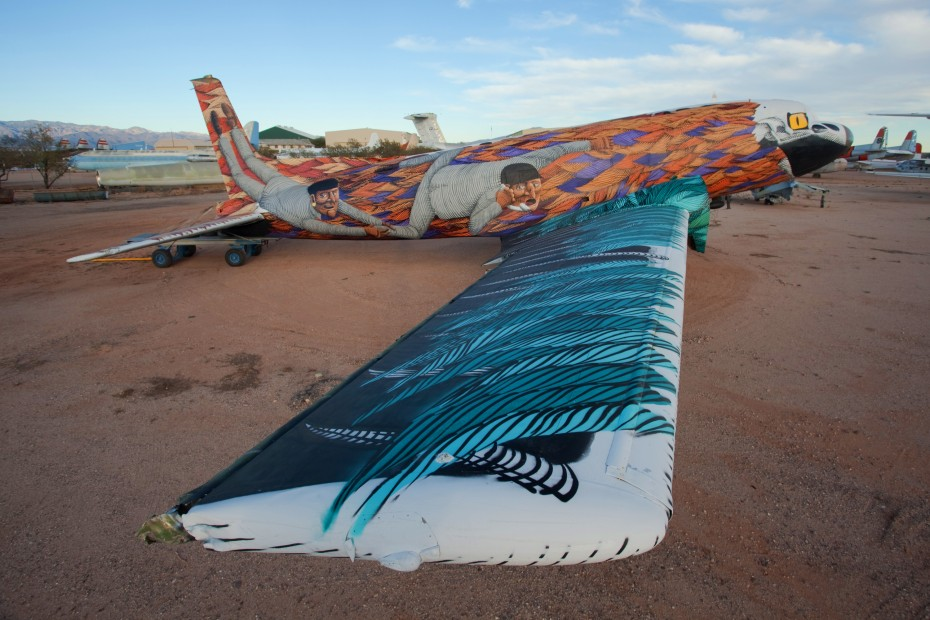 nmbv The Boneyard Project: Retired Airplanes turned into Art