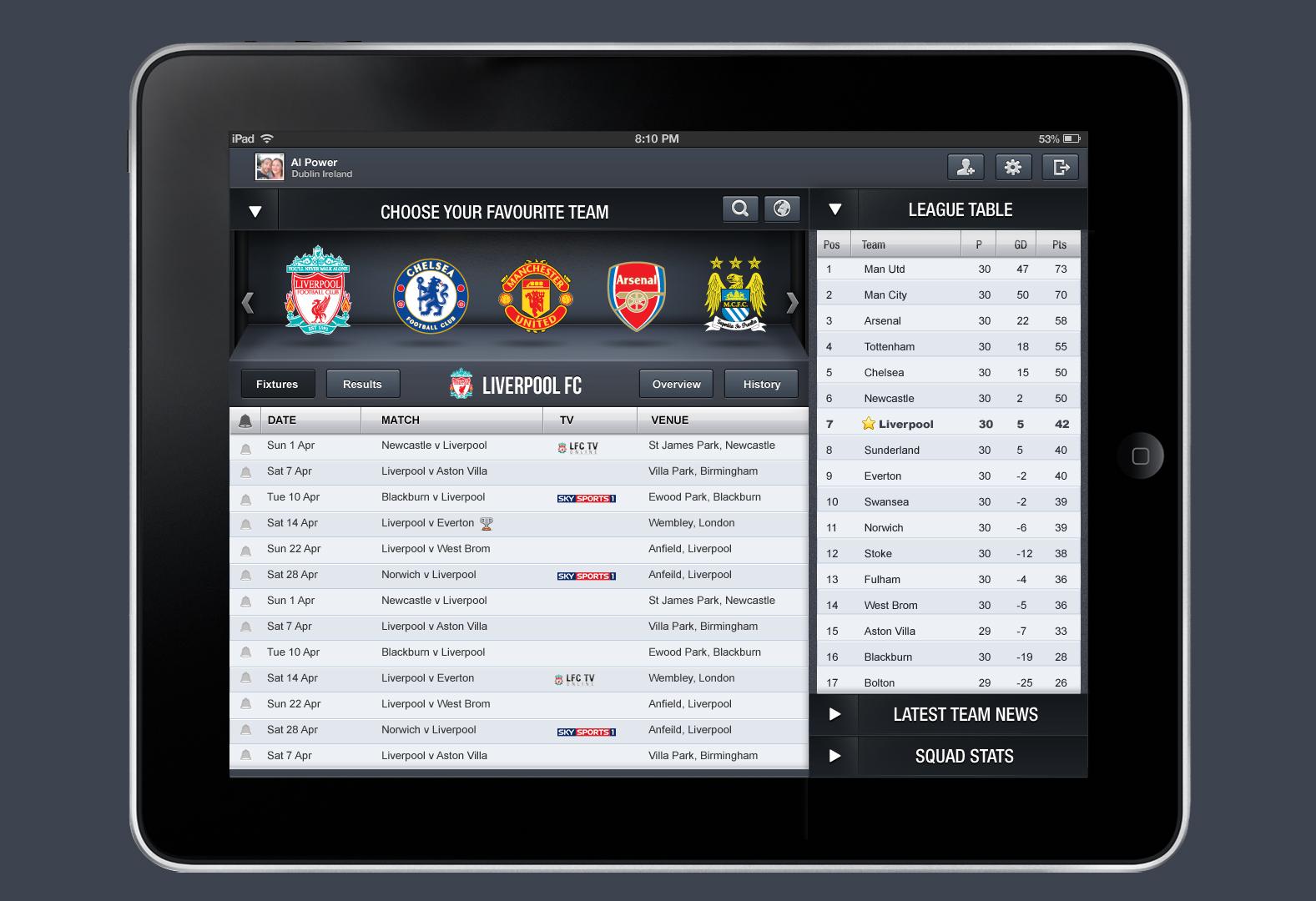 Football iPad App